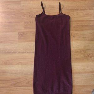 Maroon/purple body-con dress
